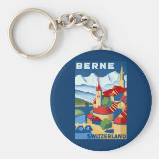 Berne ~ Switzerland ~Vintage Swiss Travel Keychain