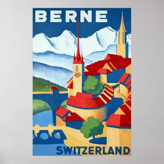 Berne ~ Switzerland ~Vintage Swiss Travel Poster