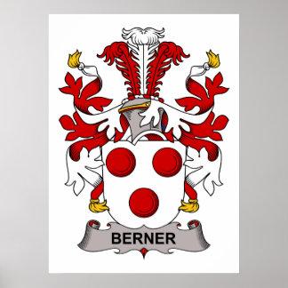 Berner Family Crest Poster