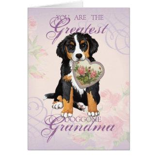 Berner Heart Grandma Card