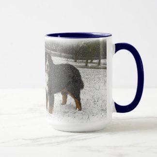 Berner in the Snow Mug