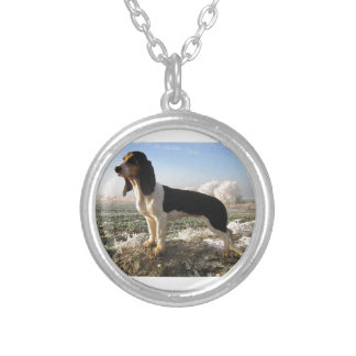 Berner Laufhund Dog Silver Plated Necklace