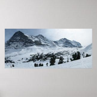 Berner Oberland en invierno Póster