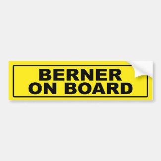 Berner on Board Car Bumper Sticker