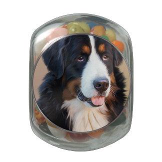 Berner Sennenhund Glass Candy Jar
