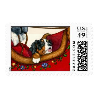 Berner with Santa Postage
