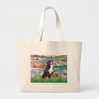 Bernese - Lilies 2 Canvas Bags