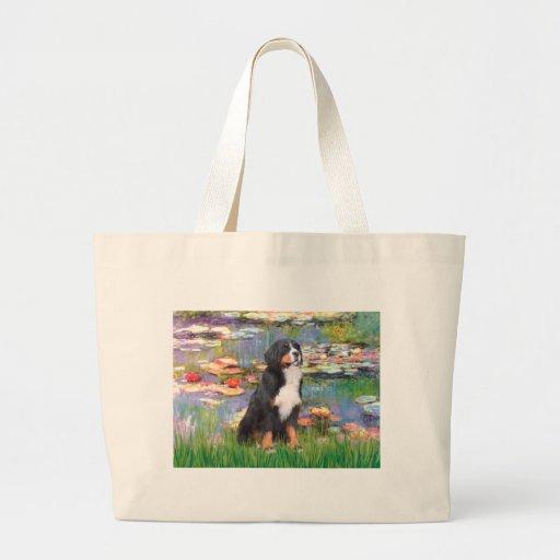 Bernese - Lilies 2 Jumbo Tote Bag