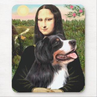 Bernese - Mona Lisa - Customized Mouse Pad