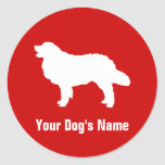 Bernese Mountain Dog バーニーズ・マウンテン・ドッグ Round Stickers
