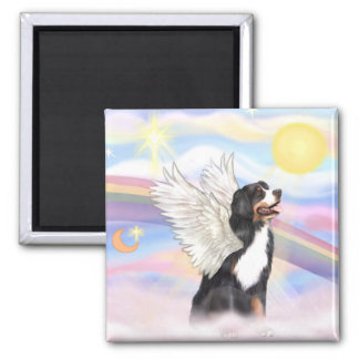 Bernese Mountain Dog 2 Inch Square Magnet