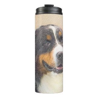 Bernese Mountain Dog 2 Painting - Original Dog Art Thermal Tumbler