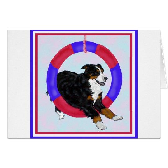 Bernese Mountain Dog Agility Design Card