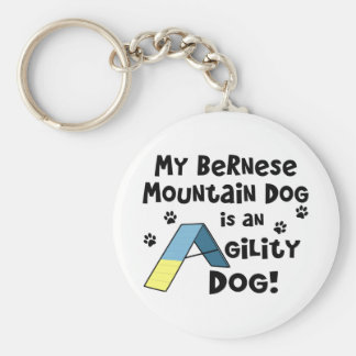 Bernese Mountain Dog Agility Dog Keychain