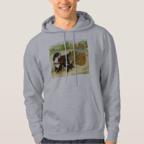 Bernese Mountain Dog and Pup with Cart Hoodie