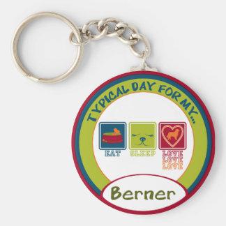 Bernese Mountain Dog [Berner] Keychain