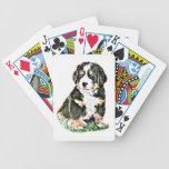 Bernese Mountain Dog Bicycle Playing Cards