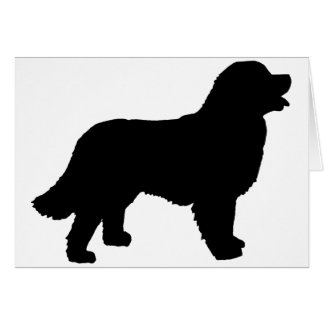 Bernese Mountain Dog (black silhouette) Card