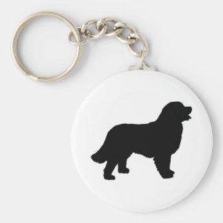 Bernese Mountain Dog (black silhouette) Keychain
