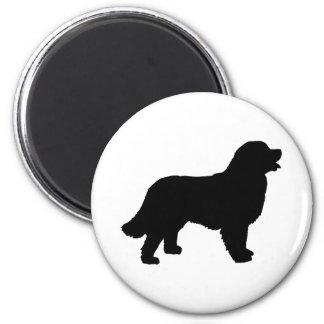 Bernese Mountain Dog (black silhouette) Magnet