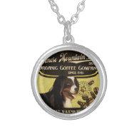 Bernese Mountain Dog Brand – Organic Coffee Compan Necklace
