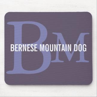 Bernese Mountain Dog Breed Monogram Mouse Pad