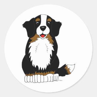 Bernese Mountain Dog Cartoon Classic Round Sticker