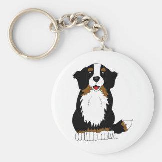 Bernese Mountain Dog Cartoon Keychain