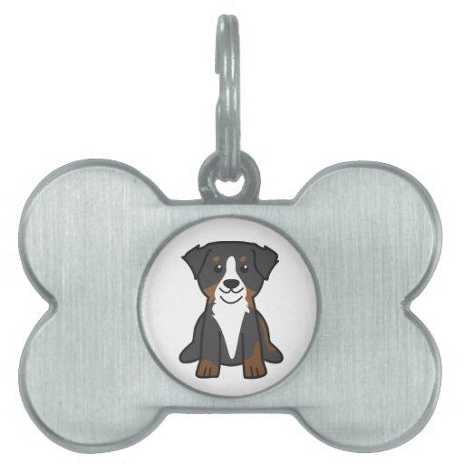 Bernese Mountain Dog Cartoon Pet Name Tags