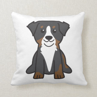 Bernese Mountain Dog Cartoon Throw Pillow