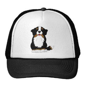 Bernese Mountain Dog Cartoon Trucker Hat
