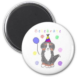 Bernese Mountain Dog Celebrate Magnet