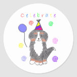 Bernese Mountain Dog Celebrate Stickers