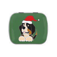 Bernese Mountain Dog Christmas Candy Tin