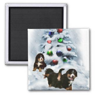 Bernese Mountain Dog Christmas Gifts Fridge Magnet