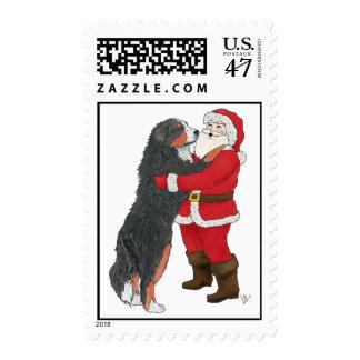 Bernese Mountain Dog Christmas Greeting Postage