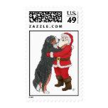 Bernese Mountain Dog Christmas Greeting Stamp