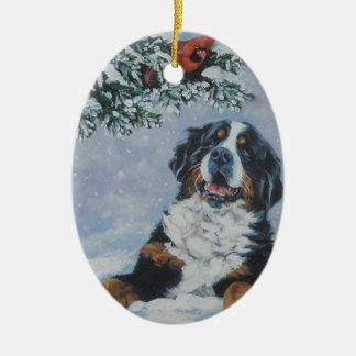 bernese mountain dog christmas ornament