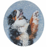 "Bernese mountain dog christmas ornament<br><div class=""desc"">from an original painting by L.A.Shepard</div>"