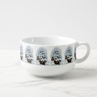 Bernese Mountain Dog Christmas Soup Mug