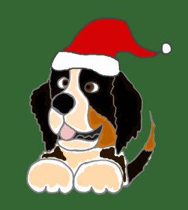 bernese mountain dog christmas tree skirt