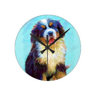 bernese mountain dog clock