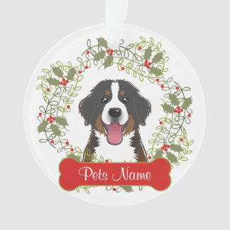 Bernese Mountain Dog Customizable Ornament