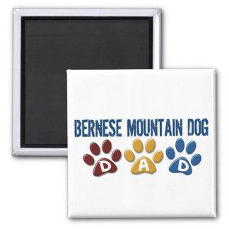 BERNESE MOUNTAIN DOG Dad PAW PRINT Magnet