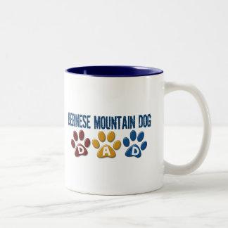 BERNESE MOUNTAIN DOG Dad PAW PRINT Two-Tone Coffee Mug