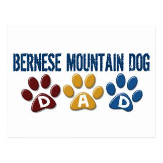 BERNESE MOUNTAIN DOG Dad PAW PRINT Postcard