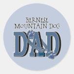 Bernese Mountain Dog DAD Round Sticker