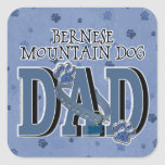 Bernese Mountain Dog DAD Square Stickers