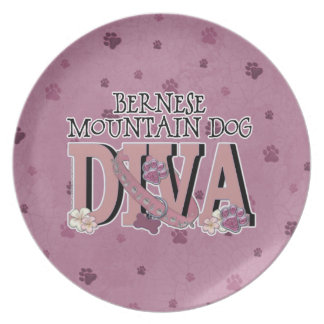 Bernese Mountain Dog DIVA Party Plates