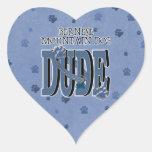 Bernese Mountain Dog DUDE Heart Sticker